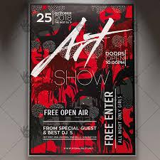 Art Event Flyer Art Show Event Business Flyer Psd Template