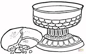 Wine And Bread Coloring Page Free Printable Coloring Pages