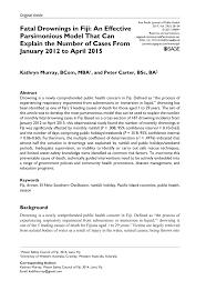 pdf fatal drownings in fiji an