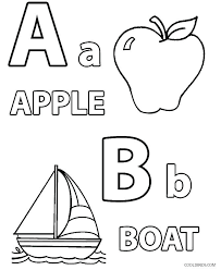 Letters Coloring Pages For Preschool Alphabet Coloring Pages E And F