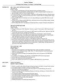 Download Manager AML Resume Sample as Image file
