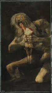 francisco goya saturn devouring his son 143 5 x 81 4 cm 1820 1823