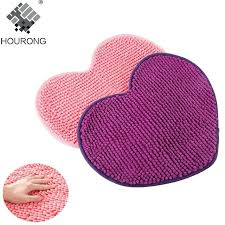 lavender bath mat love heart shaped non slip bathroom mat soft microfiber chenille bath mat bedroom floor rug lavender memory foam bath mat