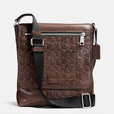 COACH Official Site Official page SULLIVAN SMALL MESSENGER IN SIGNATURE  EMBOSSED SPORT CALF LEATHER