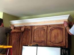 how to install crown molding on kitchen cabinets installing crown molding on kitchen cabinets new kitchen