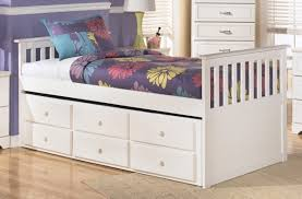 Matching Bedroom Furniture Twin Bed Frames With Storage And Trundle With Solid White Finish