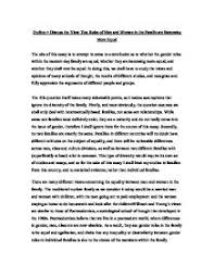 women right essay on the admission of women to the rights of  outline discuss the view that roles of men and women in the page 1