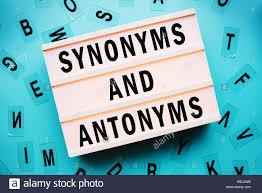 Light Blue Synonym Synonym And Antonym Stock Photos Synonym And Antonym Stock
