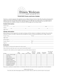 student teacher evaluation form templates in pdf word student teacher evaluation form illinois