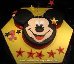 Cool Homemade Mickey Mouse 1st Birthday Cake