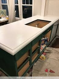 Sponge Painting Countertops Refinishing My Concrete Countertops Part 2