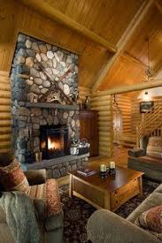 Nice Traditional Log Cabin Decorating Living Room Design Ideas, Pictures,  Remodel And Decor