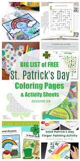 A simple coloring page with only two colors needed. Free Printable St Patrick S Day Coloring Pages Activity Sheets About A Mom