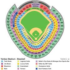 yankee stadium seating chart new york yankees