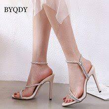 <b>BYQDY Fashion Office Lady</b> 2019 Women Sandals Thin Belt ...