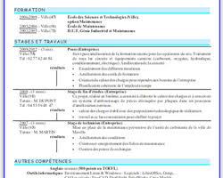 Curriculum Vitae Resume Cv Curriculum Vitae Resume Template In French Cv En Francais