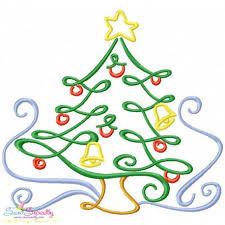 Christmas Swirls Christmas Swirls Christmas Tree Machine Embroidery Design Christmas