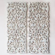 carved wood wall panel pair of wall art panel wood carving sculpture siam sawadee nice carved