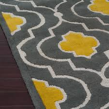 unusual grey and yellow rug