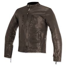 alpinestars oscar men s brass brown leather jacket