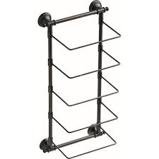towel holder for wall. Delta 5-Bar Wall-Mounted Towel Rack In SpotShield Venetian Bronze Holder For Wall A