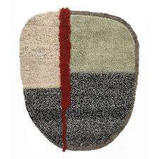 nudo rug l grey green black