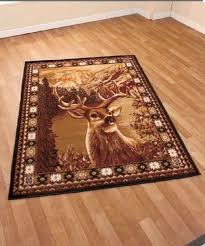 wolf area rug unique wolf or buck deer area rug 59 x 79 rustic cabin lodge