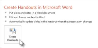 Ms Word Powerpoint Edit Or Print Powerpoint Handouts In Word Powerpoint