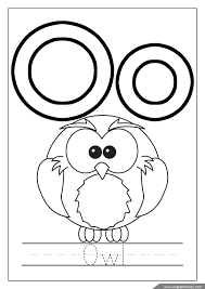 We have interactive jigsaw puzzles, and online alphabet picture books to read. Owl Letter O Coloring Pages Page 1 Line 17qq Com