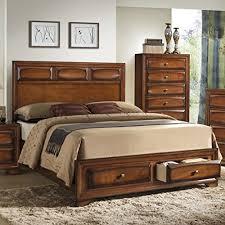 Solid Wood Queen Platform Bed Storage Amazoncom
