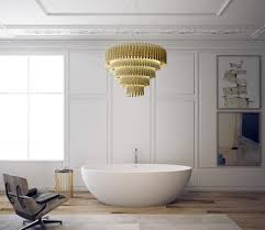luxurious oval soaking bathtub