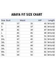 Shawl Size Chart Modest Abaya With Attached Shawl