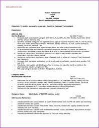 Sample Resume For Experienced Maintenance Engineer New Electrical