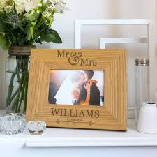 personalised mr and mrs wedding photo frame view all