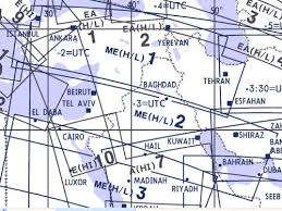High And Low Altitude Enroute Chart Middle East Me H L 1 2 Jeppesen Me H L 1 2