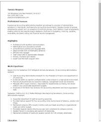 Resume Templates: Accounting Administrative Assistant