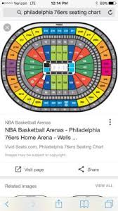 Philadelphia 76ers Tickets Seating Chart Tickets 2 Philadelphia 76ers Vs Boston Celtics Tickets Sec