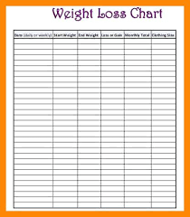 weekly weigh in charts weight loss chart noshot info