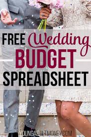 Wedding Budget Spreadsheet | Young Adult Money