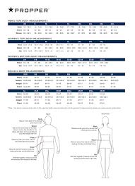 Propper Size Chart Sizing Charts 911supply