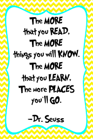 Reading Quotes For Kids Impressive Dr Seuss Quote Print Classroom Poster Or Nursery Print Digital