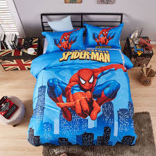 visually appearing spider man super hero bedding set