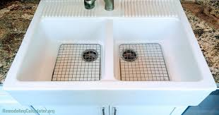 ikea domsjo double bowl sink with stainless steel grids