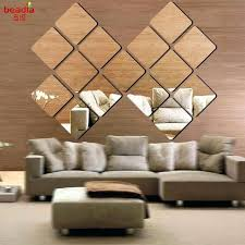 self adhesive mirror wall tiles multi size square self adhesive tiles mirror wall stickers decal mosaic home decoration self stick mirror tiles wall