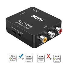 RCA to HDMI, GANA <b>1080P AV to</b> HDMI Video Converter Mini RCA ...