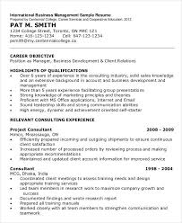 Management Resume Templates Business Management Resume Template Artonmain Info
