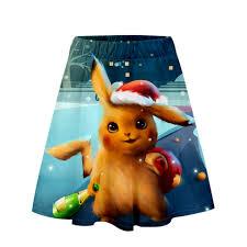 Bộ phim Pokemon Thám Tử PIKACHU 3D Váy Ngắn Bé Gái Giày Xu Hướng Mùa Hè