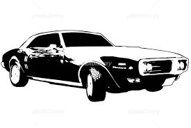 アメ車シルエット イラスト素材 1252481 無料 フォトライブラリー