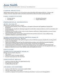 An Example Of A Good Resume Simple Example Resumer Goalgoodwinmetalsco