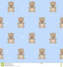 Het Naadloze Patroon Van Teddy Bear Op Achtergrond Van Baby De